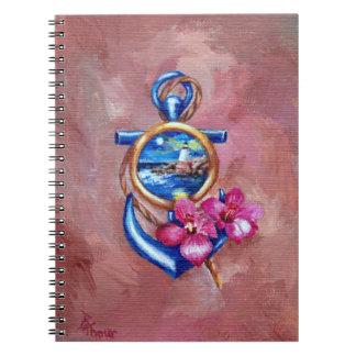Anchor Tattoo Spiral Notebook