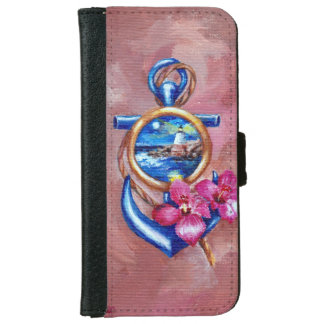 Anchor Tattoo Wallet Phone Case For iPhone 6/6s