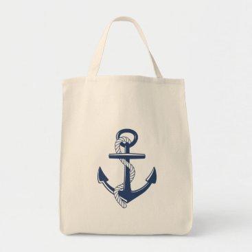 Beach Themed Anchor Tote Bag