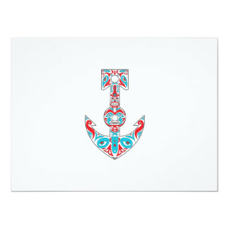 Anchor Totem Pole Northwest Coast Art Card