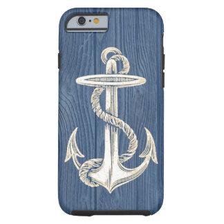 Anchor Vintage Blue Wood Beach iPhone 6 Case
