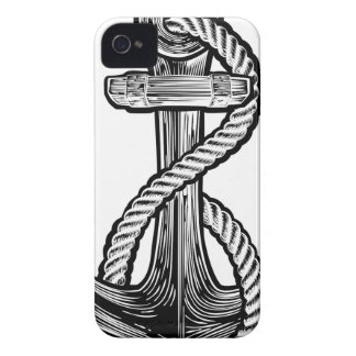 Anchor Vintage Style Tattoo Illustration Case-Mate iPhone 4 Case