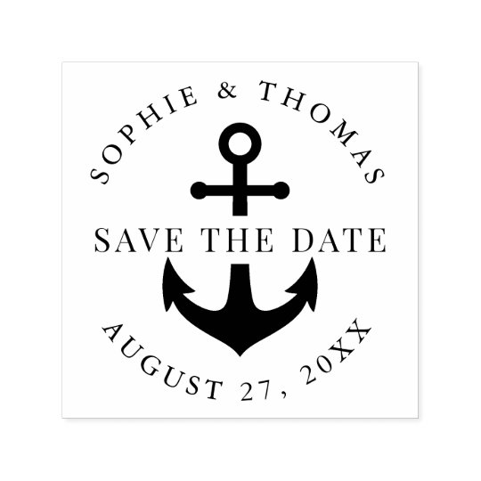 Anchor Wedding Save the Date Self-inking Stamp