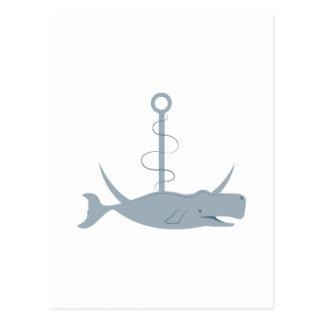 Anchor Whale Postcard
