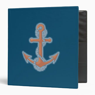 Anchor with Chain 3 Ring Binder