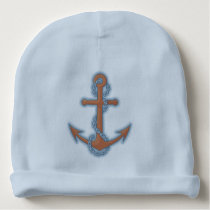 Anchor with Chain Baby Beanie