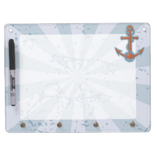 Anchor with Chain Dry Erase Board With Keychain Holder
