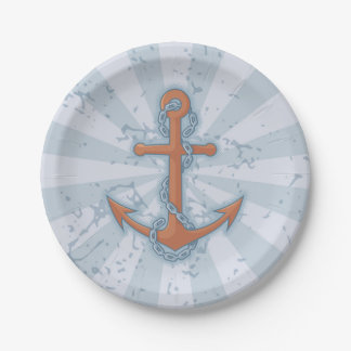 Anchor with Chain Paper Plate