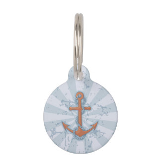 Anchor with Chain Pet ID Tag