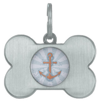 Anchor with Chain Pet Tag