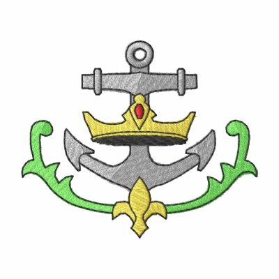 Anchor with Crown Crest