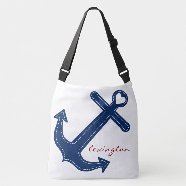 Anchor With Name Nautical Crossbody Bag