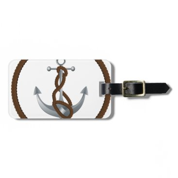 Anchor with rope bag tag