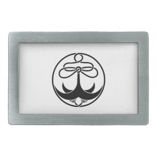 Anchor with rope rectangular belt buckle