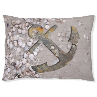 Anchor with Shells Dog Bed