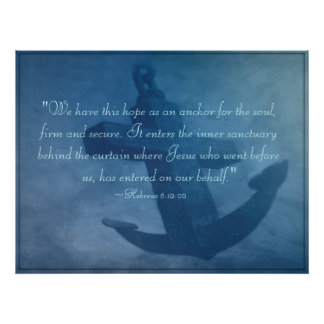 Anchor Within Us Scripture Poster