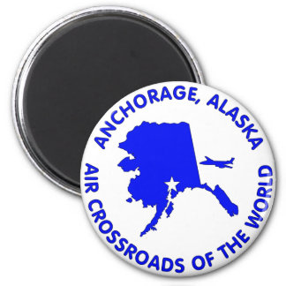 Anchorage, Alaska Air Crossroads of the World Magnet
