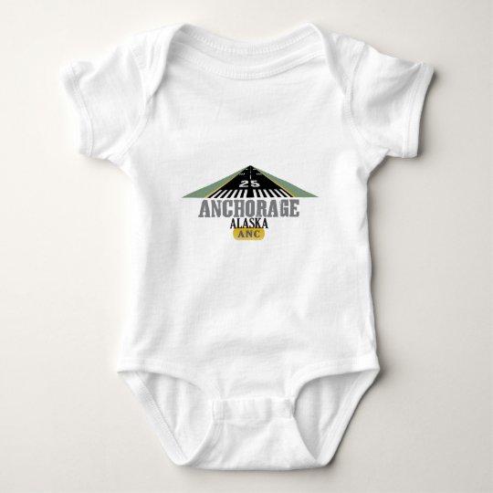 Anchorage Alaska - Airport Runway Baby Bodysuit