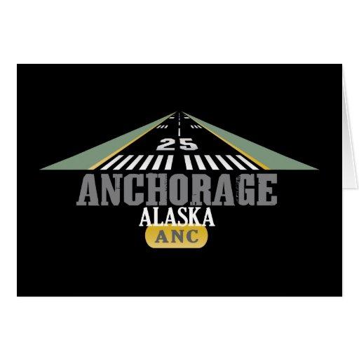 Anchorage Alaska - Airport Runway Card