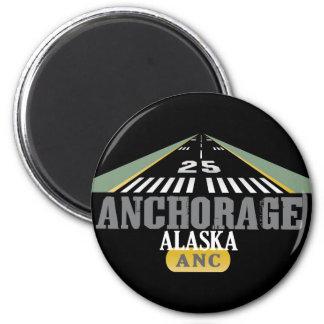 Anchorage Alaska - Airport Runway Fridge Magnet