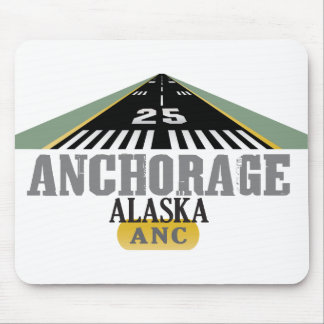 Anchorage Alaska - Airport Runway Mouse Pad