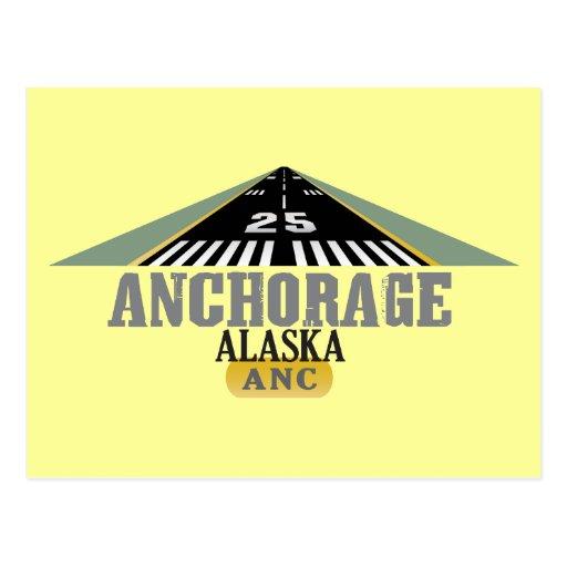 Anchorage Alaska - Airport Runway Postcards