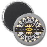 Anchorage Alaska ANC Airport 2 Inch Round Magnet
