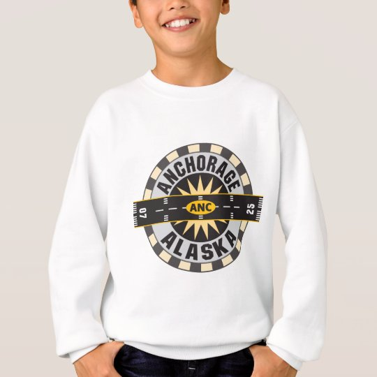 Anchorage Alaska ANC Airport Sweatshirt