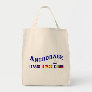 Anchorage, Alaska Tote Bags
