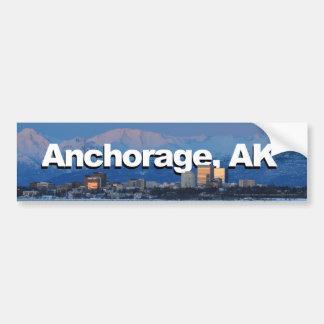 Anchorage Alaska con Anchorage en el cielo Pegatina Para Coche