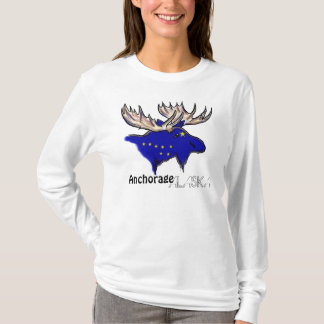 Anchorage Alaska local flag ladies hoodie