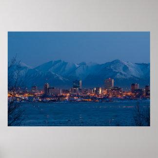 ANCHORAGE ALASKA NIGHTS POSTER