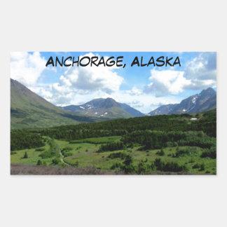 Anchorage Alaska Rectangular Pegatinas