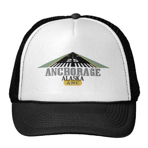 Anchorage Alaska - pista del aeropuerto Gorro