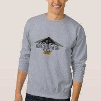 Anchorage Alaska - pista del aeropuerto Sudadera Con Capucha