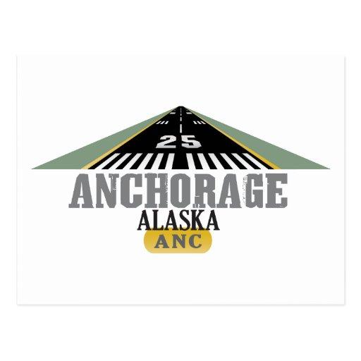 Anchorage Alaska - pista del aeropuerto Tarjeta Postal