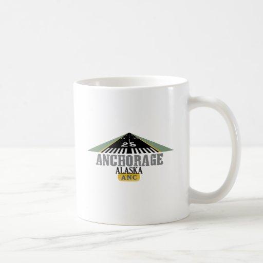 Anchorage Alaska - pista del aeropuerto Taza