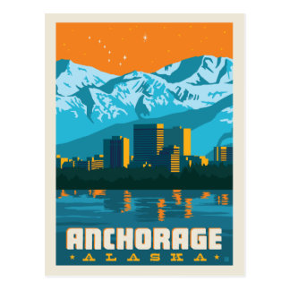 Anchorage, Alaska | Save the Date Postcard