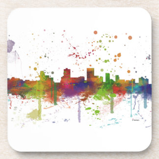 ANCHORAGE, ALASKA SKYLINE BEVERAGE COASTER