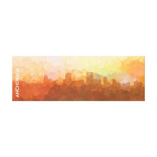 Anchorage Alaska Skyline IN CLOUDS Canvas Print