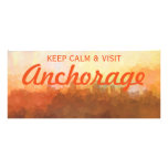 Anchorage Alaska Skyline IN CLOUDS Rack Card