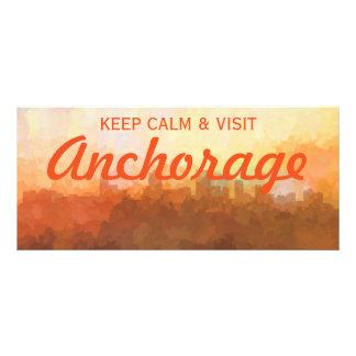 Anchorage Alaska Skyline IN CLOUDS Rack Card