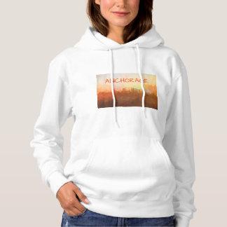 Anchorage Alaska Skyline IN CLOUDS T Shirt