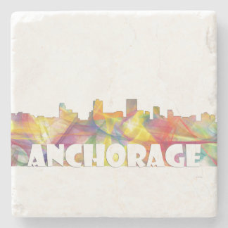 ANCHORAGE, ALASKA SKYLINE MCLR2 - Stone Coaster