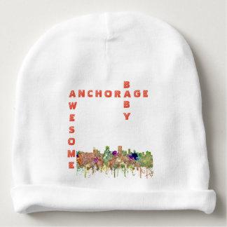 Anchorage, Alaska Skyline SG-Faded Glory Baby Beanie