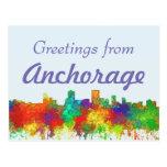 Anchorage Alaska Skyline-SG Postcard