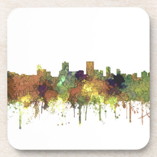 Anchorage Alaska Skyline SG-Safari Buff Drink Coaster