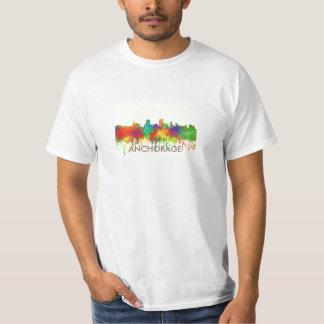 Anchorage Alaska Skyline-SG Tee Shirt