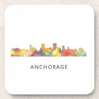 ANCHORAGE, ALASKA SKYLINE WB1 - DRINK COASTER