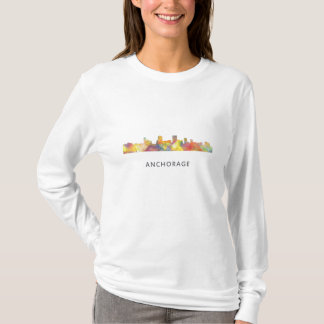 ANCHORAGE, ALASKA SKYLINE WB1 - T-Shirt